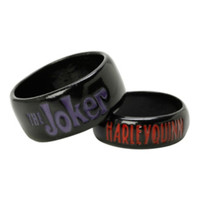 DC Comics The Joker Harley Quinn Ring Set