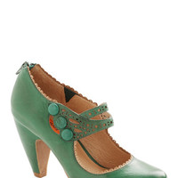 Dance the Day Away Heel in Emerald