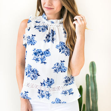 In Bloom Lace Bib Floral Top