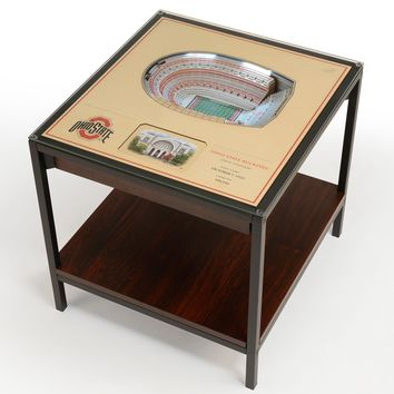 Ohio State Buckeyes | 3D Stadium View | Lighted End Table | Wood
