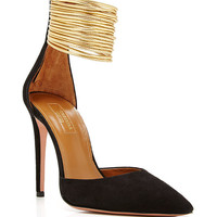 Hello Lover Cord-Trimmed Suede Pumps