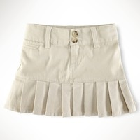 Stretch Chino Pleated Skirt - Scooters & Skirts   Girls 2–6X - RalphLauren.com