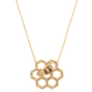 Beehive diamond & sapphire yellow-gold necklace | Delfina Delettrez | MATCHESFASHION.COM UK