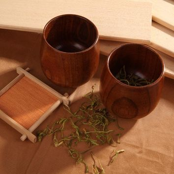 1Pcs Chinese Style Handmade Natural Spruce Wooden Tea Cups Wooden Cups Drinkware Kitchen Gadgets Accessories