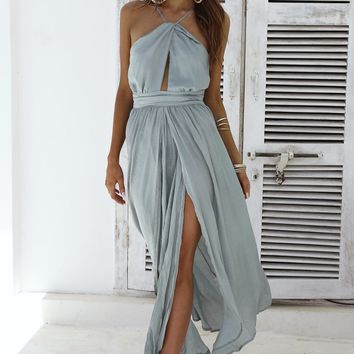 Reasons To Smile Maxi Dress (Olive)