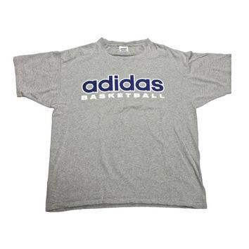 Vintage 90s Adidas Basketball Shirt Made in USA Mens Size Large