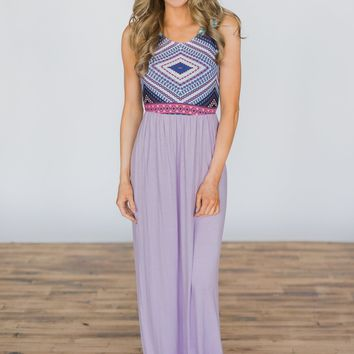 Looking for Love Lavender Maxi Dress