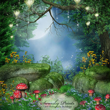 NEW ITEM 5ft x 6ft Vinyl Photography Backdrop / Custom Photography Prop / Enchanted Forest