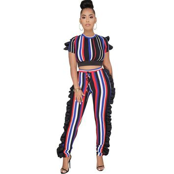 Colorful Striped Jumpsuit