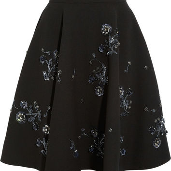 Embellished wool-crepe skirt | Miu Miu | US | THE OUTNET