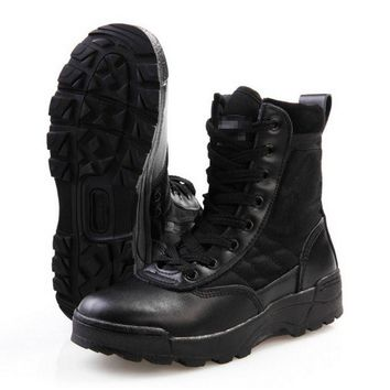New Outdoor Sport Army Men's Tactical Boots Desert Hiking Camping Military Enthusiasts Marine Male Combat Shoes Fishing Waders
