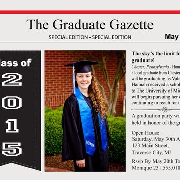 Newspaper Graduation Announcements