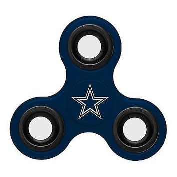 Dallas Cowboys Diztracto Fidget Spinner 3-way Toy Stress -  U.S.A.