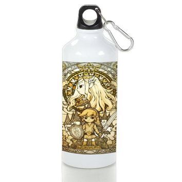 Gift Sport Bottles | The Legend Of Zelda The Wind Waker Stained Glass Aluminum Sport Bottles