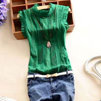 Emerald Casual Sleeveless Top
