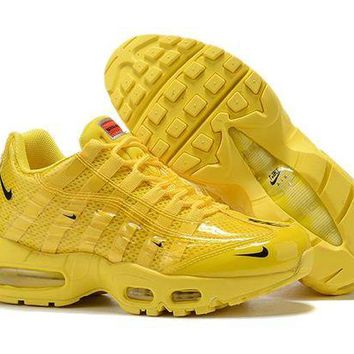 DCCK Nike Air Max 95 Women Fashion Running Sneakers Sport Shoes Yellow Size 36-40