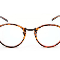 Retro Inspired Round Spectacles Faux Clear Eye Glasses Eyewear Vintage