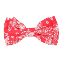 Red Bandana Hair Bow