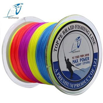 AZJ Brand 8 Stands 300M Braided Fishing Line 100% PE Wires Multifilament Fish Tools Fly Fishing Thread Peche 15LB-200LB