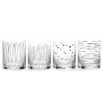 Mikasa® Cheers Metallic Platinum Double Old Fashioned Glasses (Set of 4)