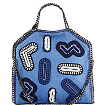Stella McCartney - Falabella Zigarette Denim Fold-Over Tote - Saks Fifth Avenue Mobile