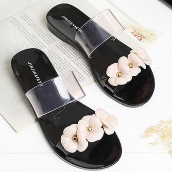 Woman Beach Flip Flops Summer Sandals Slip- Resistant Slippers Platform Sandal