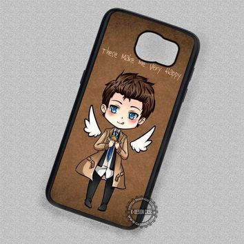 Cute Castiel Supernatural Angel - Samsung Galaxy S7 S6 S5 Note 7 Cases & Covers