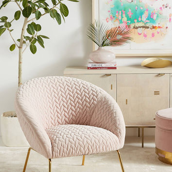 Quilted Hillside Accent Chair