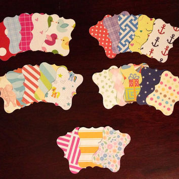 30 Assorted Pre-cut Ornate Box Stickers / Washi Tape  Great planner or scrapbook accessories!