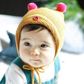 979e0762cb3 Fashion Winter Warm Baby Hat for Girl Boy Children Toddler Kids