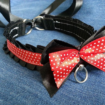 Minnie mouse collar bdsm petplay cute kawaii choker necklace