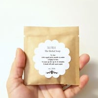 Dark Circles clay mask/Glowing Skin face mask by The Herbal Soap