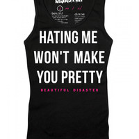 """Women's """"Hating Me"""" Tank by Beautiful Disaster (Black)"""