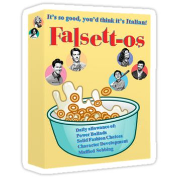 'Falsettos Cereal Sticker' Sticker by bowieflowers