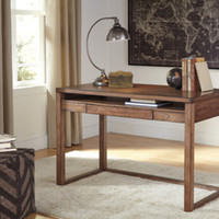 H587-10 Baybrin Home Office Small Desk - Rustic Brown - Free Shipping!