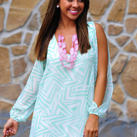 Boom Boom Pow Dress: Mint | Hope's