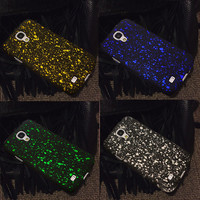 luxury case for samsung galaxy s4 s 4 i9500 by 3d hard cases stars to bling protective back cover fashion mobile phone covers