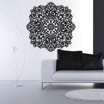 Wall Decal Vinyl  Mural Sticker Art Decor Bedroom Yoga Kitchen Ceiling Mandala Menhdi Flower Pattern Ornament Om Indian Hindu Buddha (z2878)
