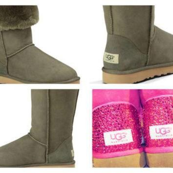 DCCK8X2 Custom UGG Boots made with Swarovski Classic Tall Free: Shipping, Repair Kit, Cleaning