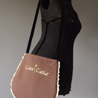 COLBIE CAILLAT - Upcycled Rock T-Shirt Fringe Purse - ooak