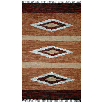 St. Croix Matador Diamonds Leather Chindi Area Rug & Reviews | Wayfair