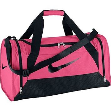 Women's Nike Brasilia 6 Medium Duffel Bag Spark Pink Size Medium