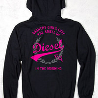 Relaxed Pullover Hoodie - Smell of Diesel