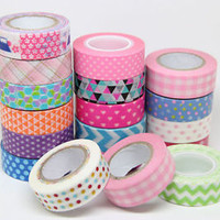 Japanese Decorative DIY paper Sticky Adhesive Sticker Decorative Washi Tape 15mm