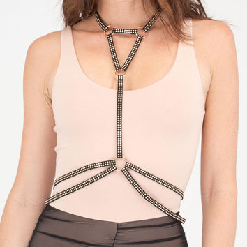 Studs And Straps Harness Bodychain GoJane.com