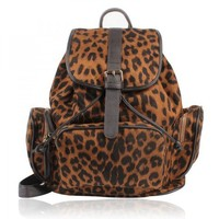 Leopard Prints Backpack  by Hallomall