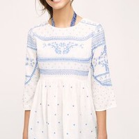 Meadowbrook Blouse by Swim by Anthropologie in White Size: