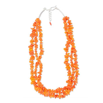 Penelope Necklace - Orange Cupolini Coral