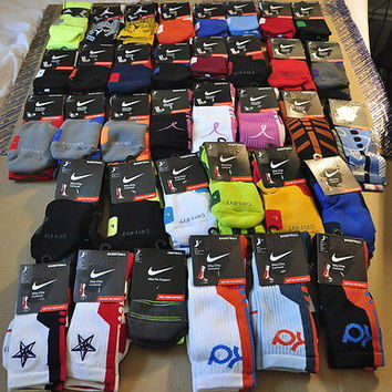 Men's Nike Elite Socks - M/L/XL - NWT - KD, Elite, Platinum, 2.0, Sequalizer