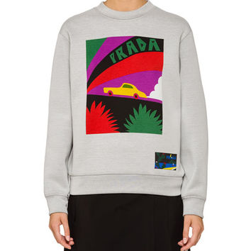 Prada Car Logo Graphic Sweatshirt
